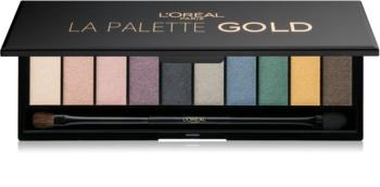 L'Oréal Paris Color Riche La Palette Gold paletka očných tieňov so zrkadielkom a aplikátorom