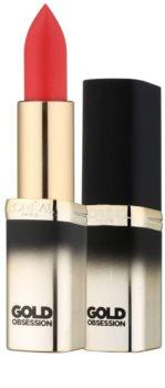 L'Oréal Paris Color Riche Gold Obsession rtěnka s 24 karátovým zlatem