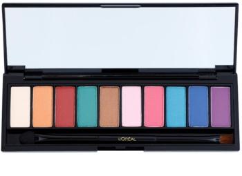 L'Oréal Paris Color Riche La Palette Glam paletka očných tieňov so zrkadielkom a aplikátorom