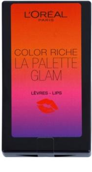 L'Oréal Paris Color Riche La Palette Glam Palette met Lippenstiften met Spiegeltje en Applicator