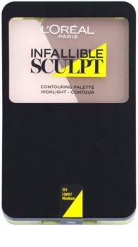 L'Oréal Paris Infallible Sculpt paleta na kontúry tváre