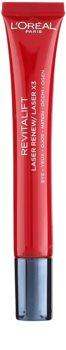 L'Oréal Paris Revitalift Laser X3 nega za kožo okoli oči proti gubam, oteklinam in temnim kolobarjem
