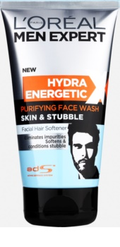 L'Oréal Paris Men Expert Hydra Energetic X gel de limpeza com efeito suavizante da barba