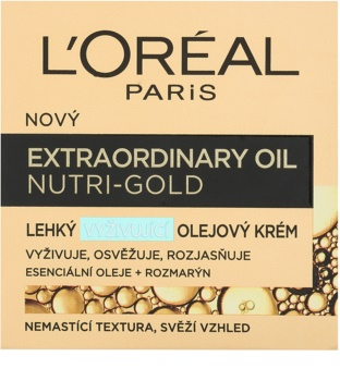 L'Oréal Paris Extraordinary Oil Nutri-Gold crema nutritiva rica n aceites con textura ligera