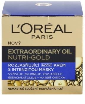L'Oréal Paris Nutri-Gold krem rozjaśniający na noc o mocy maseczki