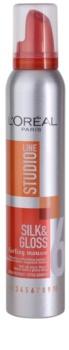 L'Oréal Paris Studio Line Silk&Gloss Curl Power espuma para dar forma a los rizos