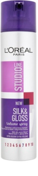 L'Oréal Paris Studio Line Silk&Gloss Volume spray pentru volum si stralucire