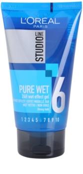 L'Oréal Paris Studio Line Pure Wet gel na vlasy s mokrým efektem