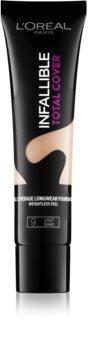 L'Oréal Paris Infallible Total Cover base duradoura com efeito matificante