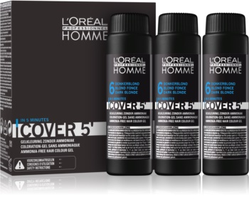 L'Oréal Professionnel Homme Cover 5' Tönung-Haarfarbe 3 pc