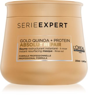 L'Oréal Professionnel Serie Expert Absolut Repair Gold Quinoa + Protein intensive regenerierende Maske für stark geschädigtes Haar