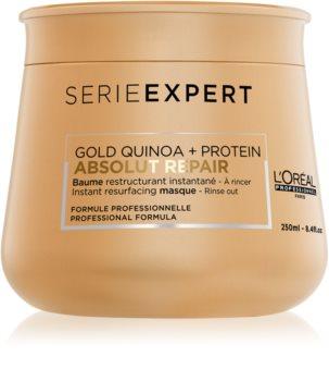L'Oréal Professionnel Serie Expert Absolut Repair Gold Quinoa + Protein εντατικά αναγεννητική μάσκα για πολύ κατεστραμμένα μαλλιά