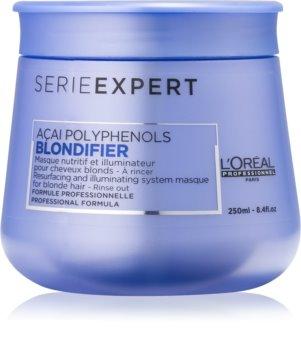 L'Oréal Professionnel Série Expert Blondifier máscara iluminadora para cabelo loiro e grisalho