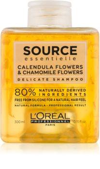 L'Oréal Professionnel Source Essentielle Calendula Flowers & Chamomile Flowers sanftes Shampoo für das Haar