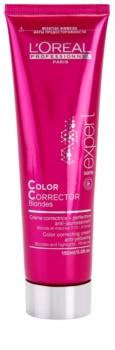 L'Oréal Professionnel Série Expert Vitamino Color AOX korrekciós krém semlegesíti a sárgás tónusokat