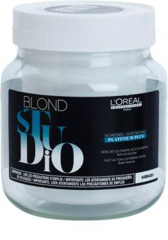 L'Oréal Professionnel Blond Studio Platinium Plus világosító krém gyors hatással