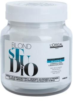 L'Oréal Professionnel Blond Studio Platinium Lightening Cream Ammonia - Free