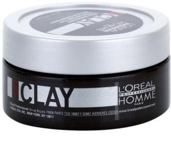 L'Oréal Professionnel Homme 5 Force Clay argile texturisante fixation forte