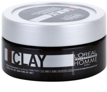 L'Oréal Professionnel Homme 5 Force Clay lama modeladora  fixação forte