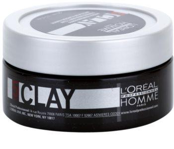 L'Oréal Professionnel Homme 5 Force Clay modellierende Paste starke Fixierung