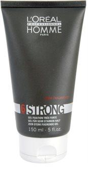L'Oréal Professionnel Homme 6 Force Strong gel de cabelo fixação extra forte