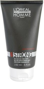 L'Oréal Professionnel Homme 6 Force Strong gel za lase ekstra močno utrjevanje