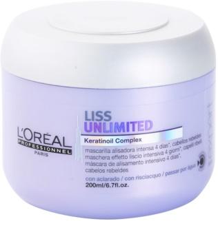 L'Oréal Professionnel Série Expert Liss Unlimited kisimító maszk a rakoncátlan és töredezett hajra