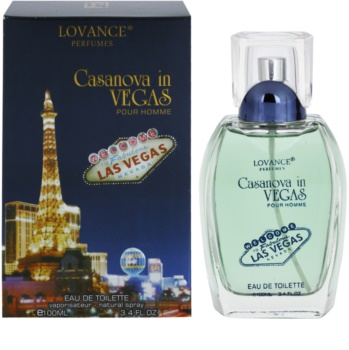 Lovance Casanova in Vegas Eau de Toilette para homens 100 ml