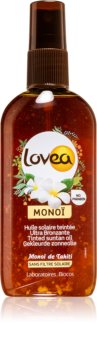 Lovea Monoi spray colorato per accelerare l'abbronzatura