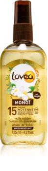 Lovea Monoi výživný olej na opalování SPF 15