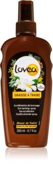 Lovea Tanning Gel Monoï spray pour accélérer le bronzage