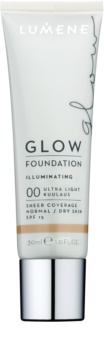 Lumene Nordic Chic Glow Egységesítő sminkalap hidratáló hatással