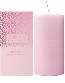Luminum Candle Premium Aromatic Cherry Geurkaars   Groot  (Ø 70 - 130 mm, 65 h)
