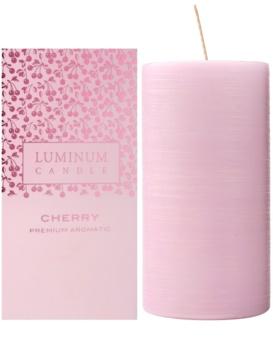 Luminum Candle Premium Aromatic Cherry illatos gyertya    nagy (Ø 70 - 130 mm, 65 h)
