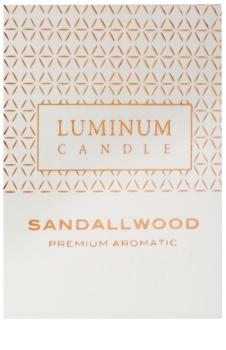 Luminum Candle Premium Aromatic Sandalwood Αρωματικό κερί   μεσαίο (Ø 60 - 80 mm, 32 h)