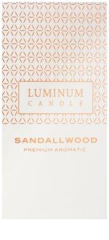 Luminum Candle Premium Aromatic Sandalwood Geurkaars   Groot  (Ø 70 - 130 mm, 65 h)