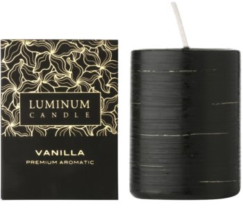 Luminum Candle Premium Aromatic Vanilla Scented Candle   decorated, medium (Ø 60 - 80 mm, 32 h)