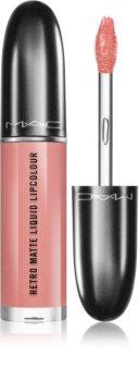 MAC Retro Matte Liquid Lipcolour Matte Lipstick with Metallic Effect