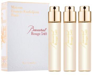 Maison Francis Kurkdjian Baccarat Rouge 540 Eau de Parfum Unisex 3 x 11 ml Navulling