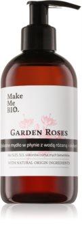 Make Me BIO Garden Roses Negovalno tekoče milo za roke  z dozirno črpalko