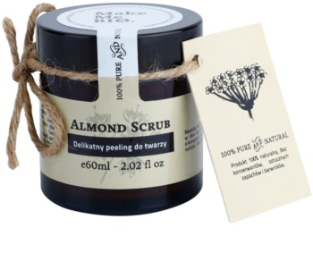 Make Me BIO Cleansing crema delicata pentru exfoliere cu migdale pentru piele uscata spre sensibila