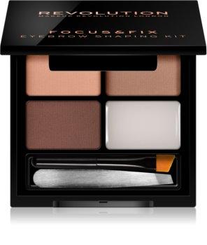 Makeup Revolution Focus & Fix kit para unas cejas perfectas