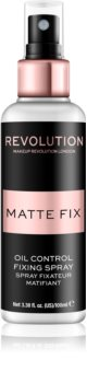 Makeup Revolution Pro Fix spray fixador para base matificante
