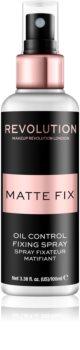 Makeup Revolution Pro Fix spray fixador para base matificante