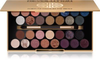 Makeup Revolution Fortune Favours the Brave παλέτα με σκιές ματιών με καθρέπτη και εφαρμοστή