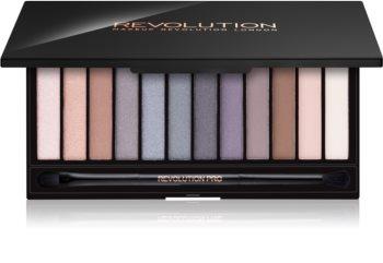 Makeup Revolution Iconic Smokey paletka očných tieňov so zrkadielkom a aplikátorom