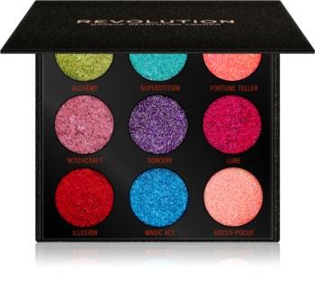 Makeup Revolution Pressed Glitter Palette paletka lisovaných trblietok