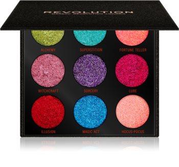 Makeup Revolution Pressed Glitter Palette paletka lisovaných třpytek