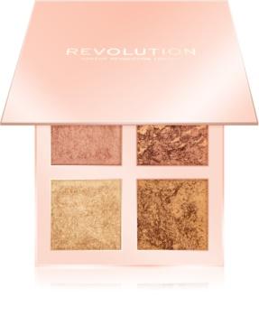 Makeup Revolution Face Quad palette d'enlumineurs
