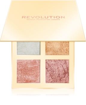Makeup Revolution Face Quad paleta rozjasňovačů